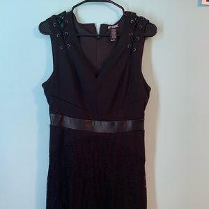 Large Hot Topic Black Lace Midi Dress VGUC